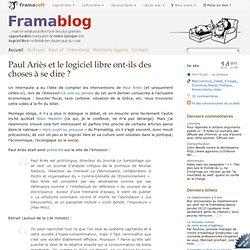 Paul Ariès et le logiciel libre ont-ils des choses à se dire ?