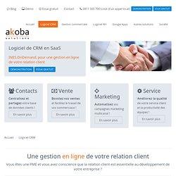Logiciel CRM ASP et SaaS pour PME - Logiciel CRM en ligne (Gestion de la Relation Client) - Akoba Solutions