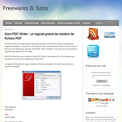 un logiciel gratuit de création de fichiers PDF