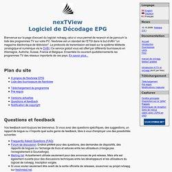 nxtvepg - Logiciel de Décodage nexTView EPG