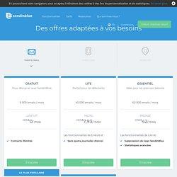 Envois Emails et SMS - Tarifs du Logiciel d'Emailing SendinBlue