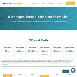 Offres et tarifs logiciel de gestion associations - Mon Asso Facile