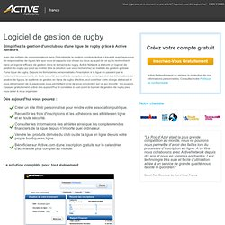 Logiciel de gestion de rugby