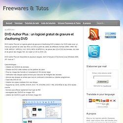 gravure et d'authoring DVD