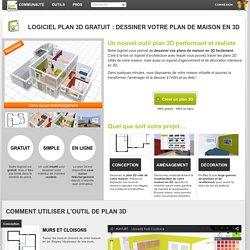 Plan Maison 3D - Logiciel gratuit pour dessiner ses plans 3D