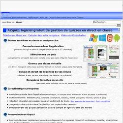 AZquiz, logiciel gratuit de gestion de quizzes en direct en classe
