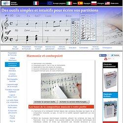Logiciel pour l'harmonie et le contrepoint musical