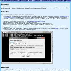 Serveur ou service logiciel - VMware ESXi - Installation des pilotes réseau (No Network Adapters)
