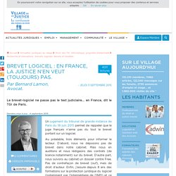 Brevet logiciel : en France, la justice n'en veut (toujours) pas. Par Bernard Lamon, Avocat.