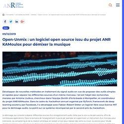 Open-Unmix : un logiciel open source issu du projet ANR KAMoulox pour démixer la musique