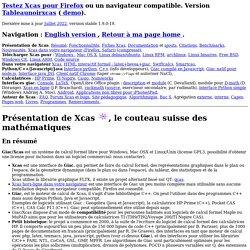 Giac/Xcas, logiciel libre de calcul formel