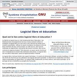 Logiciel libre et éducation - Projet GNU - Free Software Foundation
