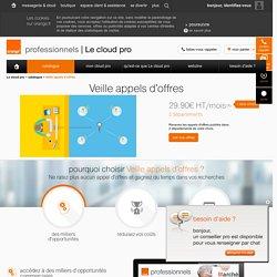 Surveillez les appels d'offres avec le cloud pro