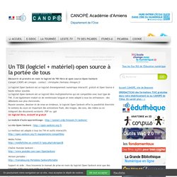 Un TBI (logiciel + matériel) open source à la portée de tous
