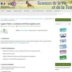Logiciel «Plante» : Les besoins nutritifs des végétaux verts