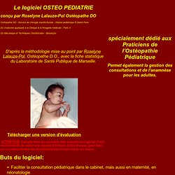 LOGICIEL OSTEO PEDIATRIE
