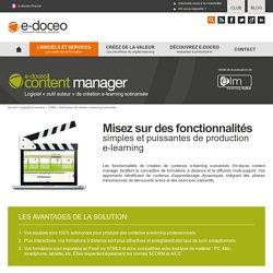 elearning maker : logiciel auteur de e-learning et e-formation - outil e-learning pour contenus e-learning, serious game, exercices interactifs - outil auteur d'e-doceo