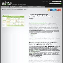 Logiciel agenda partagé - Alma : logiciel Semainier pour agenda partagé