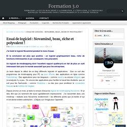 Essai de logiciel : Novamind, beau, riche et polyvalent