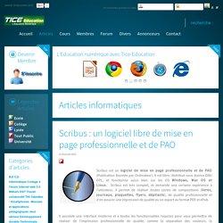 Scribus : un logiciel libre de mise en page professionnelle et de PAO