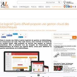 Le logiciel Quria d'Axiell propose une gestion cloud des bibliothèques
