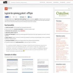 Logiciel de content spinning gratuit et en français