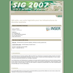 Sdi.suite, une suite logicielle pour les infrastructures de données spatiales