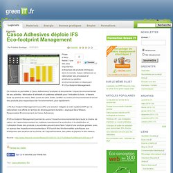 Casco Adhesives déploie IFS Eco-footprint Management