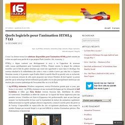 Quels logiciels pour l'animation HTML5 ? (2)