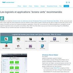 """logiciels et applications """"écrans verts"""""""