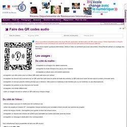 Vocal recall - QR code audio