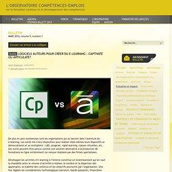 LOGICIELS AUTEURS POUR CRÉER DU E-LEARNING : CAPTIVATE OU ARTICULATE ?