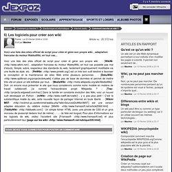 Les logiciels pour créer son wiki J'expoz.com