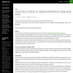 Logiciels pour le développement web sur Mac