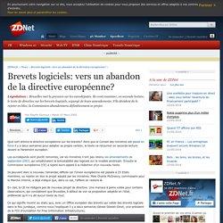 Brevets logiciels: vers un abandon de la directive européenne?