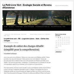 Le petit livre vert – RE – Logiciels Libres – Vote – Cahier des charges