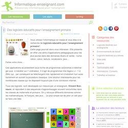 Logiciels éducatifs pour l'enseignement primaire