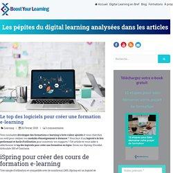 Le top des logiciels pour créer une formation e-learning