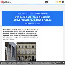 Des codes sources de logiciels gouvernementaux dans la nature