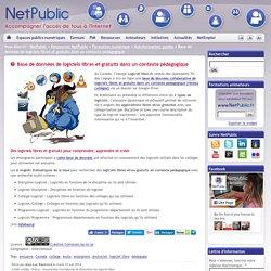 Base de données de logiciels libres et gratuits dans un contexte pédagogique