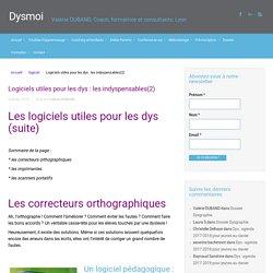 Logiciels utiles pour les dys : les indyspensables(2)