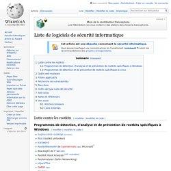 Liste de logiciels de sécurité informatique