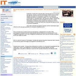 Marché des logiciels, conseils et services informatiques : vers une hausse de 3,5% en 2011