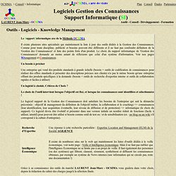 Outils - Logiciels - Knowledge Management