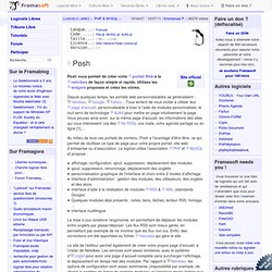 Posh - PHP & MySQL