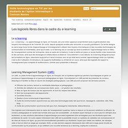 Les logiciels libres dans le cadre du e-learning