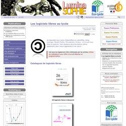 Les logiciels libres au lycée - Lycée polyvalent Lumina Sophie
