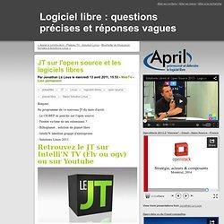 JT sur l'open source et les logiciels libres