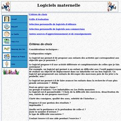 logiciels maternelle
