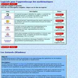 Logitron - logiciels éducatifs pour les mathématiques